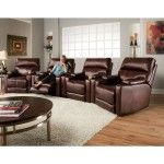 Recline Designs - Tango 7 Picese - 4 Wall Hugger Theater Recliners with 3 Small Console Wedges - 2141-44  SPECIAL PRICE: $1,900.01