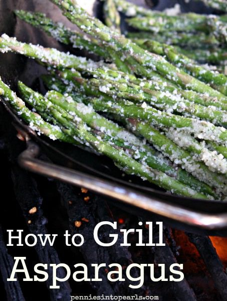 Parmesan Grilled Asparagus - Best of all the Grilled Asparagus Recipes - penniesintopearls.com -  follow these tips on how to grill asparagus to top off the perfect meal!