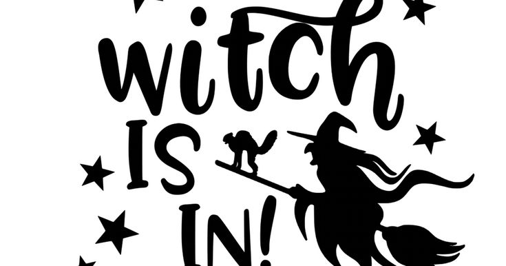 Download The-Witch-is-In_1_.svg (With images) | Witch, Clip art, Svg