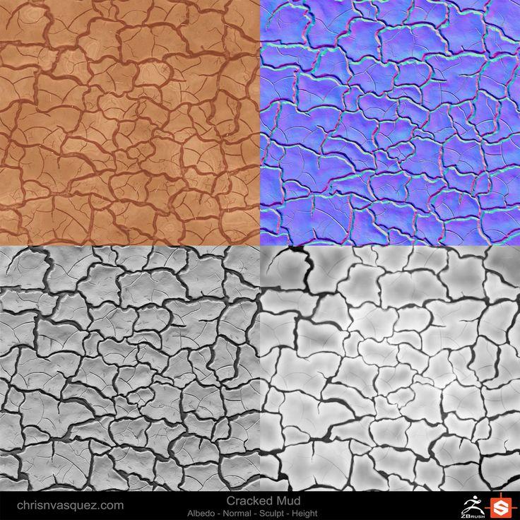 ArtStation - Mud Cracks, Christian Vasquez