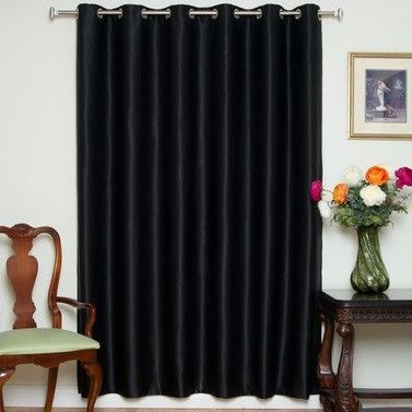 "Blackout Nickel Grommet Top 100"" Width Single Curtain Panel"