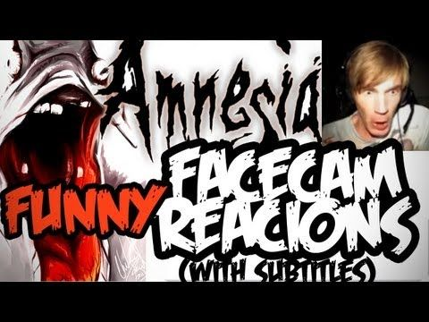 Pewdiepie:Scary & Funny FaceCam reactions in Amnesia