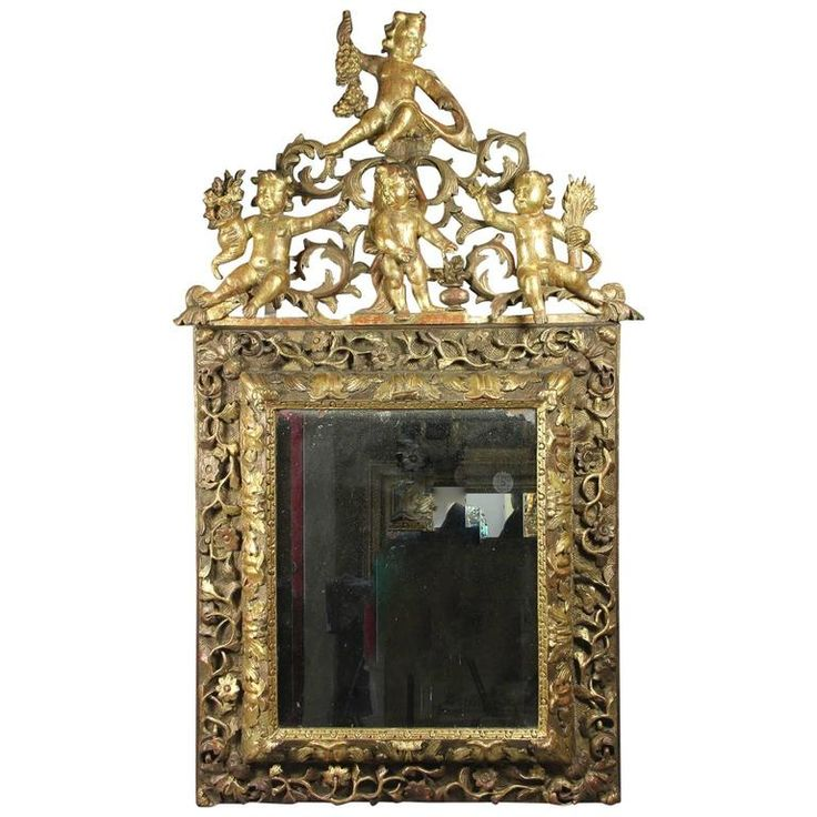 Louis XIV Baroque Giltwood Mirror For Sale at 1stdibs