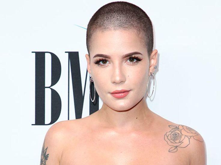 Halsey's Shaved Head — Hair Makeover At BMI Pop Awards - Hollywood Life #femininebuzz #chickbuzz