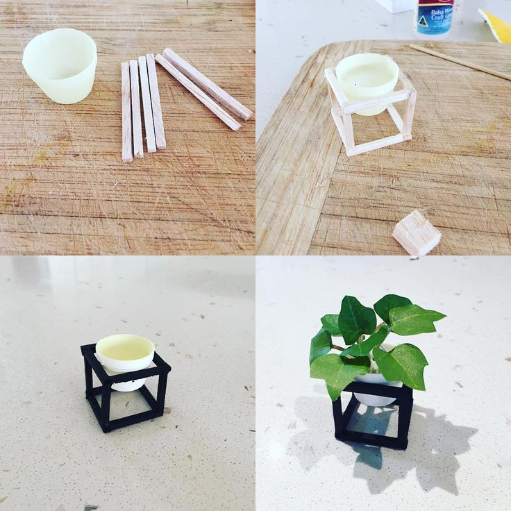 "63 Likes, 8 Comments - OneBrownBear (@onebrownbear) on Instagram: ""Mini pot plant #modernminiatures #dollhouserenovation #dollhousediy"""