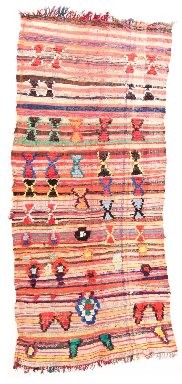 Marokkaanse Berber tapijt Boucherouite 335 x 145 cm