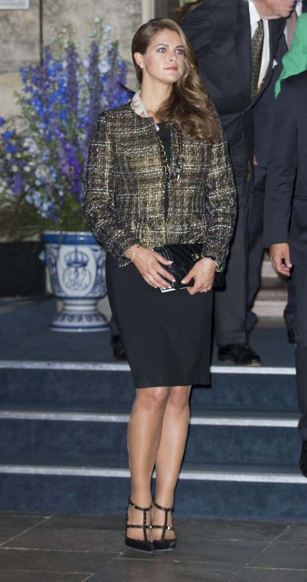 """Swedish Princess Madeleine at the inauguration of the exhibition """"40 years on the throne in the service of the Sweden"""" in the context of the Jubilee of the 40 years of reign of King Carl XVI Gustaf in Stockholm, 13 Sep 2013"""