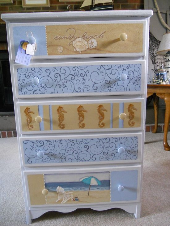 Coastal Painted Furniture 2017 04 Distressed For Beach Decor In 2018 Pinterest