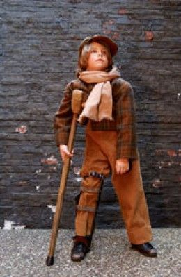 Have you ever performed in A Christmas Carol? Check out this Tiny Tim Costume and stage your own production at home! #newtraditions #AChristmasCarolSTL
