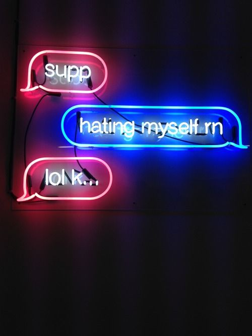 Neon by artist Petra Collins, 2014, now on display at Capricious 88