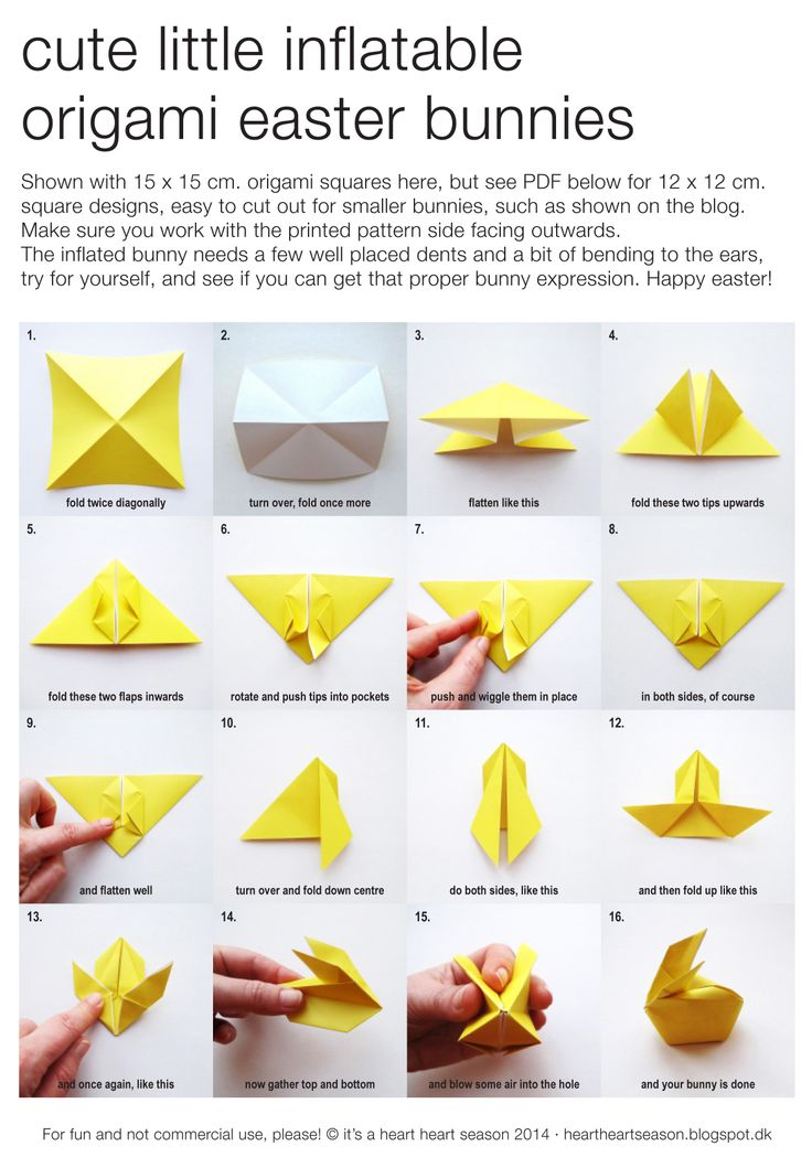 Origami Easter bunny tutorial | Easter | Bunny origami ... - photo#18
