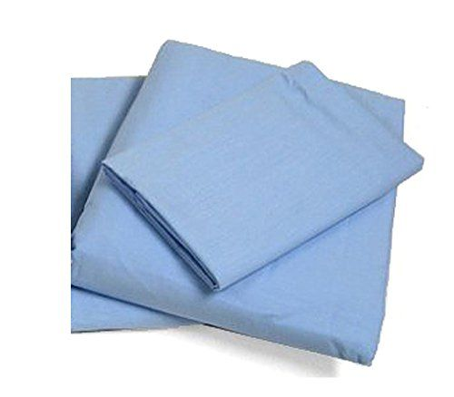 """Cot Sheets (Fitted, Flat, Sets), 4 Piece Cot Sheet and Pillow Case Set - Blue- 1 cot fitted sheet 33"""" x 75"""", 1 cot flat sheet 64""""x94"""", 2 pillow cases 20""""x30"""" #carscampus"""