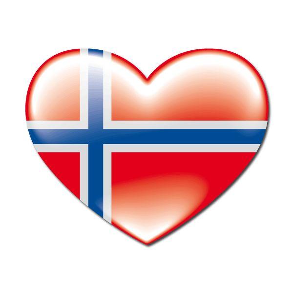 Pegatinas: Corazón bandera Norway (Noruega) #bandera #pegatina #TeleAdhesivo