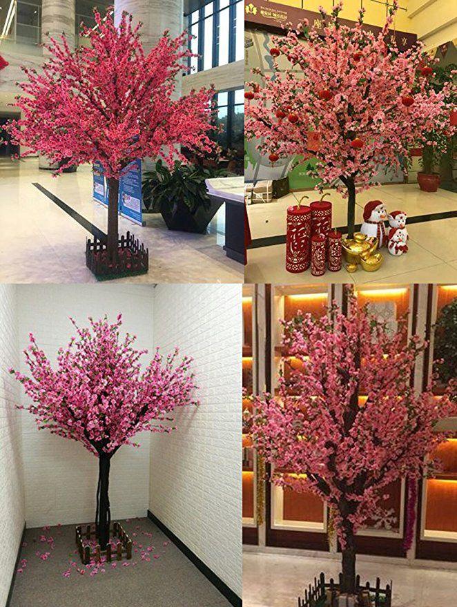 Amazon Com J Beauty Artificial Peach Blossom Trees Artificial Cherry Blossom Tree Silk Peach Blossom Tree Artificial Cherry Blossom Tree Cherry Blossom Tree
