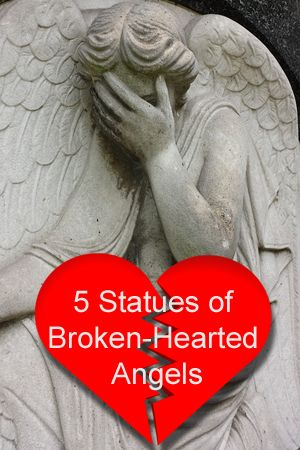 These weeping angel statues are beautiful and heart-breaking, reflecting the sorrow we feel when we lose a loved one.