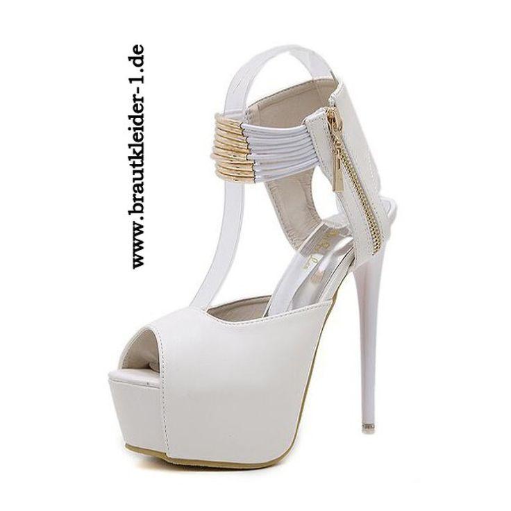 Braut High Heels in Weiß für den Standesamt