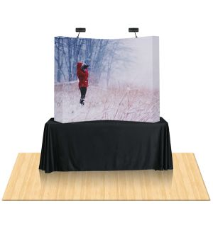 Fabric pop up display is easiest to set up  Fabric pop up display is extremely light weight and sturdy. DXP display.ca fabric pop display is made from highest quality resolution dye sub fabric print. Our fabric pop up display is quick to grab the attention of the audiences