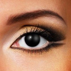 Black Blind Halloween Coloured Contact Lenses (90 Day)