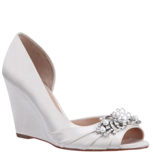 Rona Ivory Satin Bridal Shoes Nina Bridal Shoes Fun Wedding Shoes