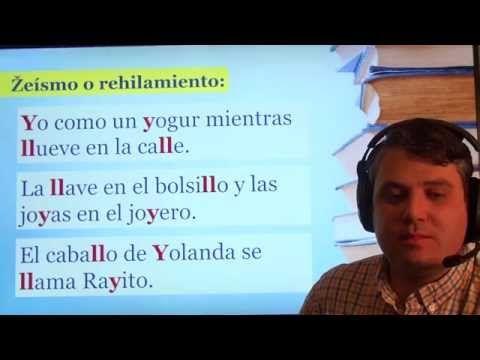 Práctica de pronunciación del español. Fonema /ʝ/ - YouTube
