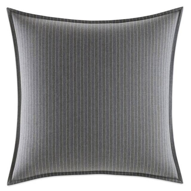 product image for Nautica® Bluffton Pinstripe European Pillow Sham in Dark Grey