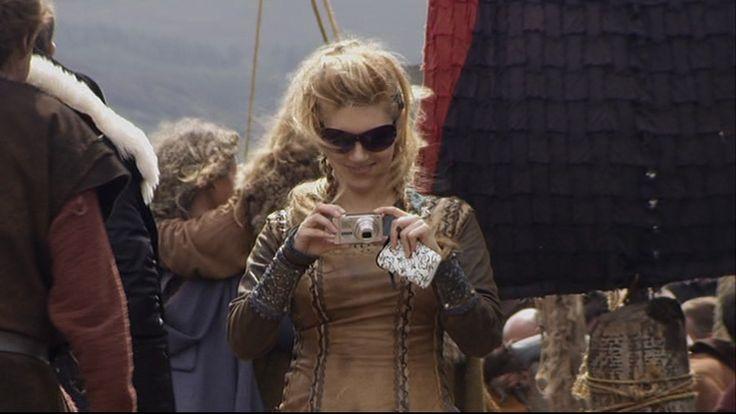 """Katheryn Winnick behind the scenes of """"Vikings"""""""