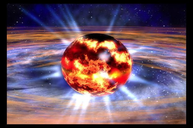 Charles Q. Choi, Space.com Contributor: The crusts of neutron stars — cosmic cousins of black holes — possess a weird form of matter known as 'nuclear pasta.' Caption: An artist's impression of a neutron star. The cosmic object's 'nuclear pasta' would be located between the crust and the outer core of the neutron star. Credit: NASA/Dana Berry