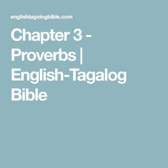 Chapter 3 - Proverbs | English-Tagalog Bible