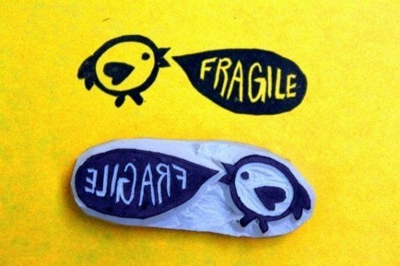 This Little Bird is Fragile Stamp by Neon Canvas Studio {Etsy}