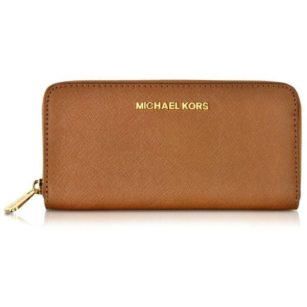 Michael Kors Luggage Jet Set Travel Saffiano Leather Continental... (1.300 ARS) ❤ liked on Polyvore featuring bags, wallets, clutches, michael kors bags, zipper wallet, continental zip wallet, continental wallet and saffiano leather wallet