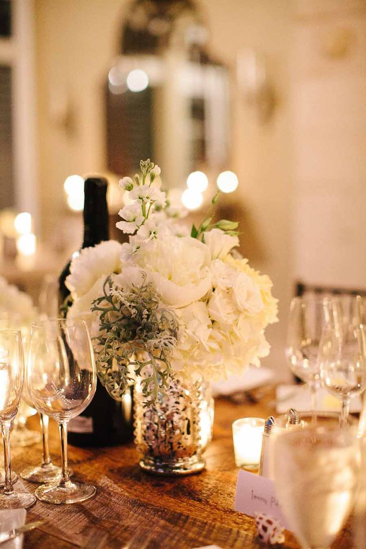 40 best inspiration mercury glass images on pinterest for Glass tables for wedding reception
