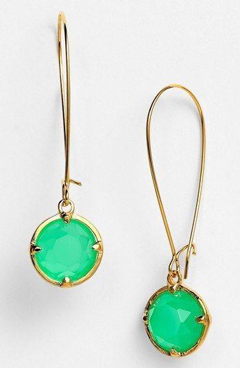 kate spade new york drop earrings | | http://awesomewomensjewelry.blogspot.com