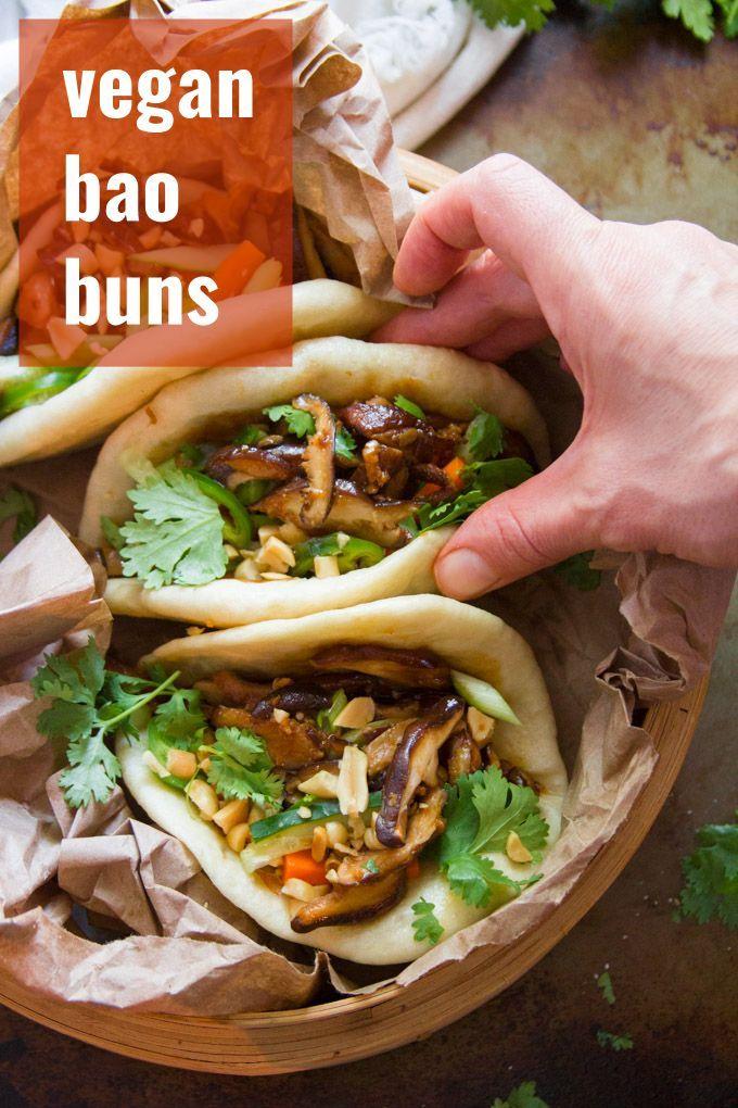Vegan Bao Buns Vegan Dinner Recipes Vegetarian Recipes Recipes