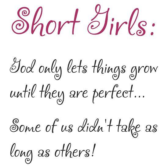 Short girl quote shirt