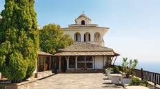 Soak up the views at the Archangelous Monastery #Thassos