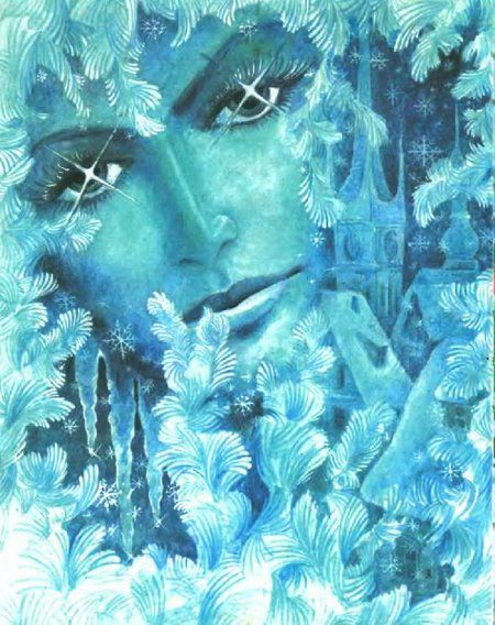 Снежная королева / сказка, живопись, образ, снежная королева