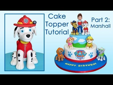 Paw Patrol (Cake Toppers) Part 2: Marshall /Patrulla de cachorros Parte 2: Marshall - YouTube
