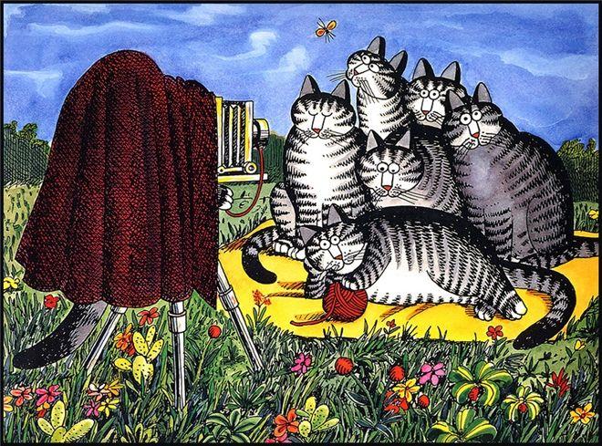 Огняна - Bernard Kliban. Cat Dreams