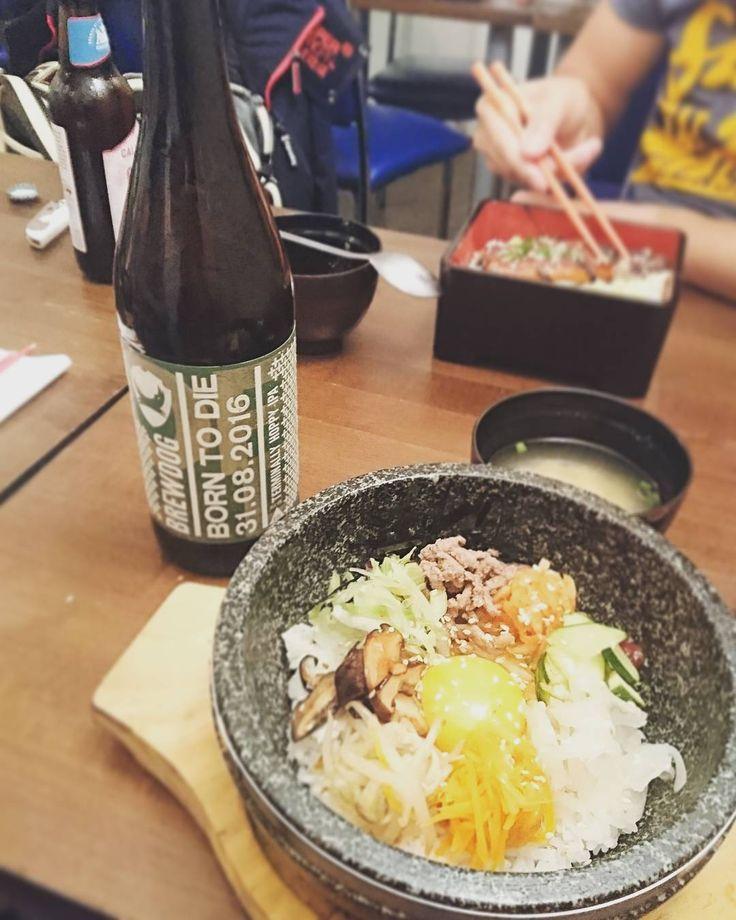 A #BornToDie to pair with a #Bibimbap...고맙습니다 @brewdog!  -- #foodporn #Korean #koreanfood #brewdog #lovebeer #craftbeer #foodpairing #edfringe #edfests #Edinburgh #Andamiro #newington #igersuk #igersscotland #scotspirit #instaboy #instafood #picoftheday http://ift.tt/2b6qGPn