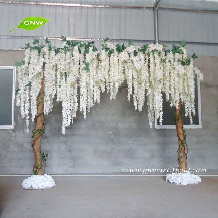 FLA1603001 GNW 8ft podium decoratie achtergrond met wit kunstmatige wisteria bloem voor bruiloften-afbeelding-Decoratieve bloemen& kransen-product-ID:60438481292-dutch.alibaba.com