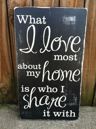 """WHAT I LOVE MOST... hand painted wood sign - 12""""x20"""""""