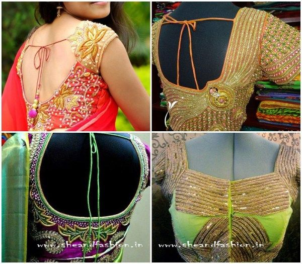 Silk Saree Beads: 307 Best Images About Blouse Designs On Pinterest