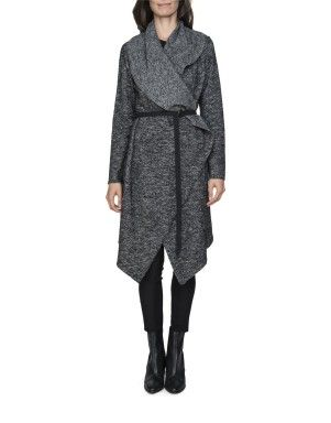 Wool Blend Waterfall Coat