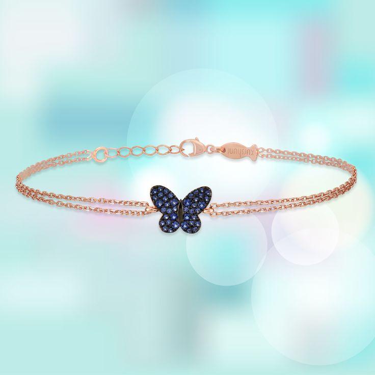 Take flight 🦋   Kurshuni bracelet is sterling silver.   . . . . . . . . . #kurshuni #silverjewellery #silverbracelet #butterfly #springjewelry #spring #bracelet