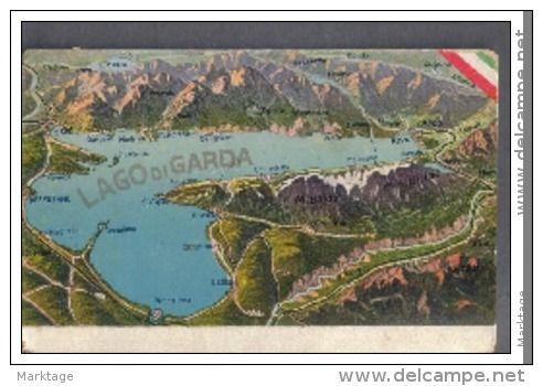 LAGO DI GARDA MAPPA TURISTICA 1917 - Delcampe.it