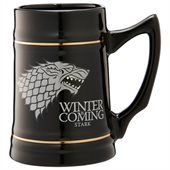 Game of Thrones: Stark - 24 oz. Black Ceramic Stein by Game of Thrones