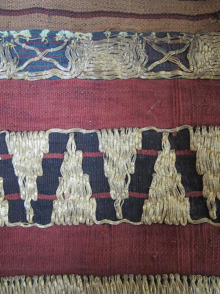 detail of an 60 year old kain tapis, woven and embroidered by hand in Sumatra, Indonesia