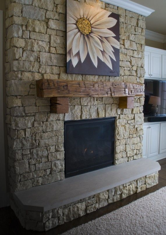 Antique Reclaimed 4 Side Hand Hewn Barn Beam Mantel Mantle