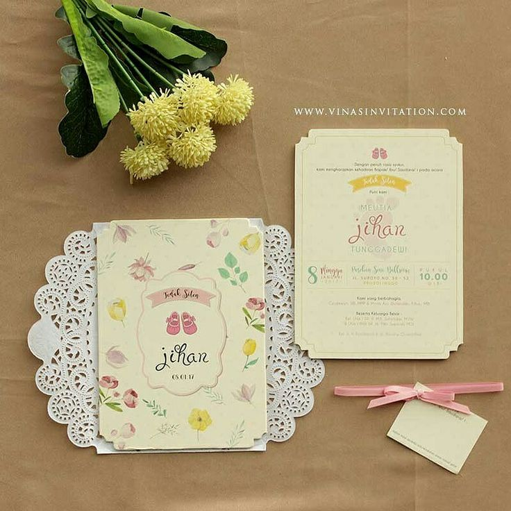Vinas invitation. Traditional event. Kids event invitation. Any question pls visit www.vinasinvitation.com. courtesy of Jihan Tedak Sinten
