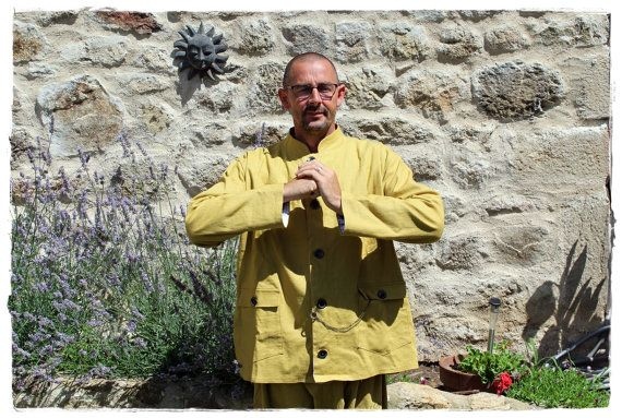 Veste en lin et boutons de bois  Vêtements par KhoutureEcologique